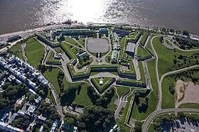 La Citadelle de Québec, vue du ciel.