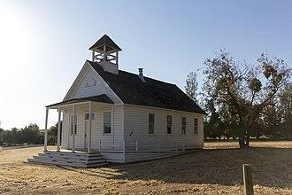 """La Grange, California - The """"old"""" Schoolhouse in the La Grange Historic District."""