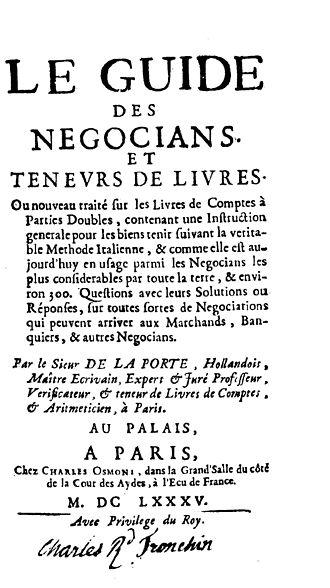 Mathieu de la Porte - Guide des negocians et teneurs de livres, 1685