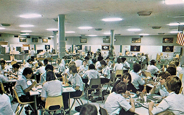 File Lackland Air Force Base Waf Dining Hall 1970s Jpg