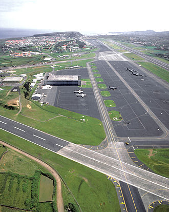 Lajes (Praia da Vitória) - The northern portion of Lajes Airfield; the parish of Lajes is dominated geographically and economically by the importance of Air Base No.4