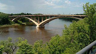 Lake Street-Marshall Bridge bridge connecting Minneapolis and Saint Paul, Minnesota