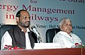 "Lalu Prasad, the Minister of State for Railways, Shri Naranbhai J. Rathwa at the inauguration of International Seminar on ""Emerging Technologies & Strategies for Energy Management in Railways in New Delhi on October 21, 2008.jpg"