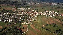 Langensendelbach, Luftaufnahme (2015)