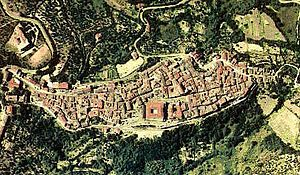 Larino - Aerial view of Larino.