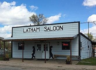 Latham, Kansas - Latham saloon and restaurant, Latham, Kansas