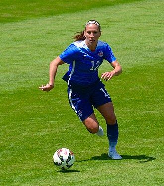 Lauren Holiday - Holiday playing with the United States women's national soccer team in San Jose, California, 2015