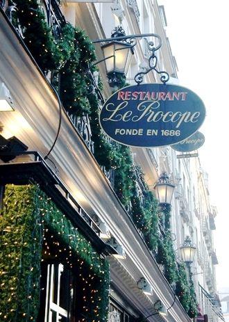 Café Procope - The café's sign in 2007