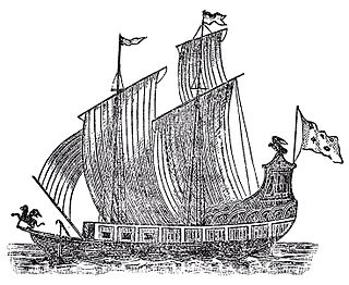Sailing vessel used in the exploration of the North American Great Lakes