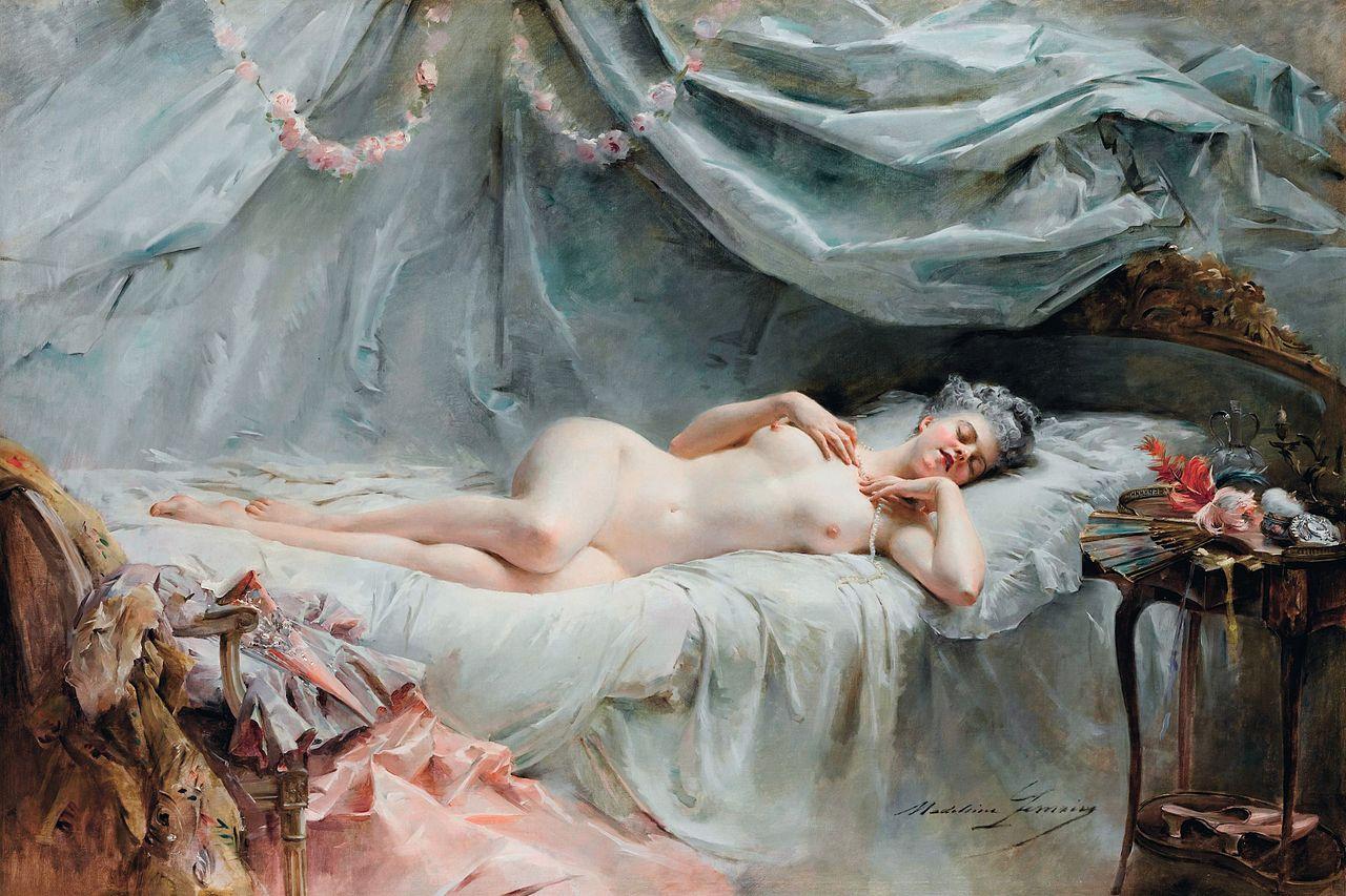 Le sommeil de Manon, by Madeleine-Jeanne Lemaire, née Coll.JPG