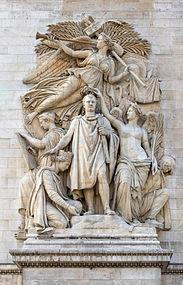 Le triomphe de 1810, Jean-Pierre Cortot, Arc triomphe Paris