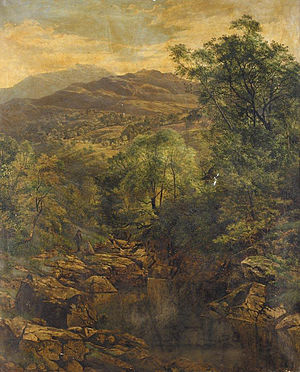 Benjamin Williams Leader - A Quiet Pool in Glenfalloch (1857)