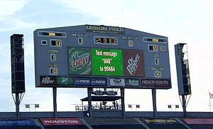 Legion Field - Image: Legion Field Scoreboard