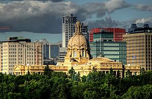 Calgary–Edmonton Corridor - Alberta Legislature Building in Edmonton, the capital of Alberta