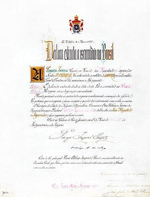 Capoeira - Original Lei Áurea document