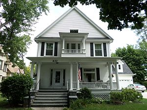 National Register of Historic Places listings in Shiawassee County, Michigan - Image: Leigh Christian House Owosso