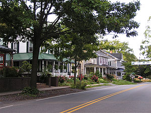 Lemont Historic District - Pike Street in the Lemont Historic District