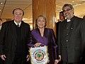 Leoz, Bachelet y Lugo en la Conmebol.jpg
