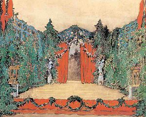 Les Sylphides - 1909 set design by Alexandre Benois