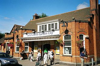 Letchworth Garden City railway station - The entrance to the station