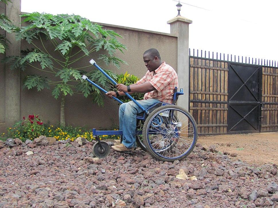 Leveraged wheelchair Kenya