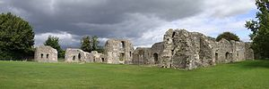 Lewes Priory - Panorama of the remains of the priory