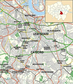 London Borough of Lewisham - Locations in and around the London Borough of Lewisham