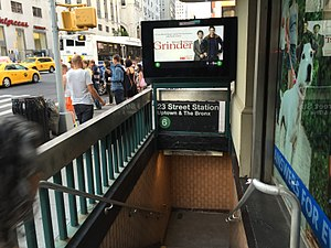 23rd Street (IRT Lexington Avenue Line) - Image: Lex 23rd St NB Entrance