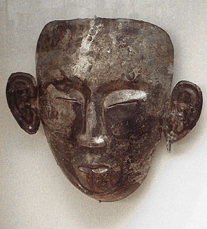 History of the Khitans - Liao funerary mask, 10th–12th centuries