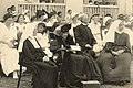 Liliuokalani with Sister Beatrice and Sister Albertina at St. Andrew's Priory (PPWD-16-3-007).jpg