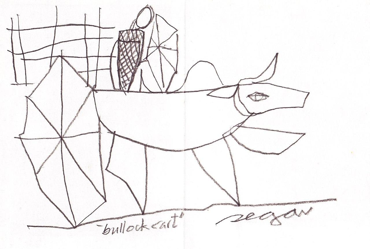 Fileline drawing of a bullock cart by segar 01 jpg wikipedia