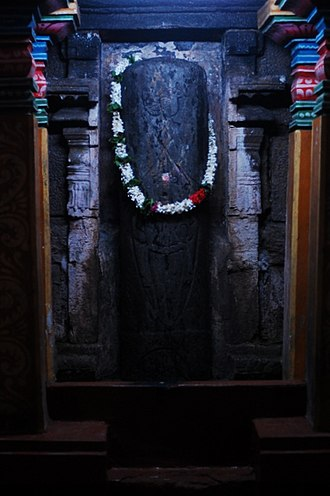 Munneswaram temple - Image: Lingam installed at the outer walsl of Sivan temple