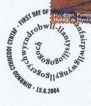 Llanfairpwllgwyngyll - Postmark from the village