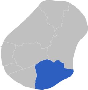 Meneng Constituency - Image: Locatie Constituency Meneng