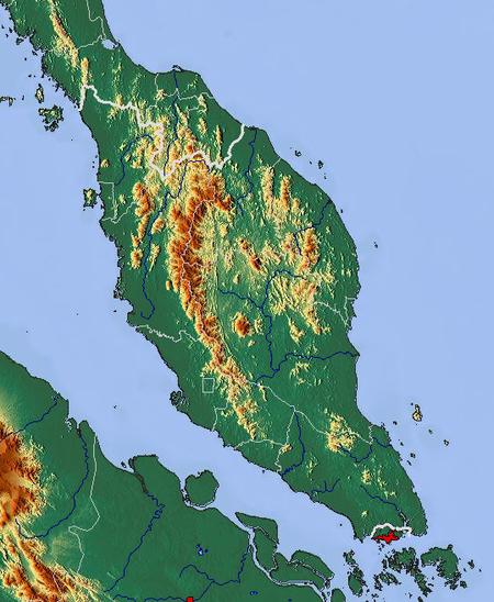 Malaysia Map: Peninsular Malaysia