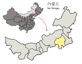Location of Chifeng Prefecture within Inner Mongolia (China).png