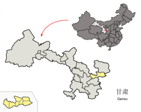 Location of Pingliang Prefecture within Gansu (China).png