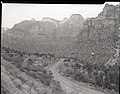 Location of parking area and wayside- great arch. ; ZION Museum and Archives Image 007 01 024 ; ZION 8169 (257a387e5a2547c0a693da270b511e59).jpg