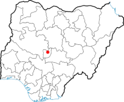 Abujas beliggenhed i Nigeria.