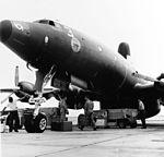 Lockheed EC-121K of VW-4 prepares for take-off in September 1965.jpg