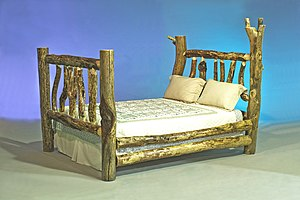 An example of log furniture, or rustic furnitu...