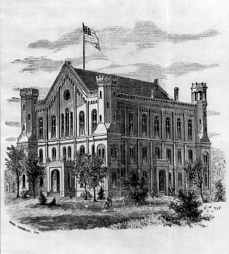 Lombard College - Lombard College building, from an 1876 catalog