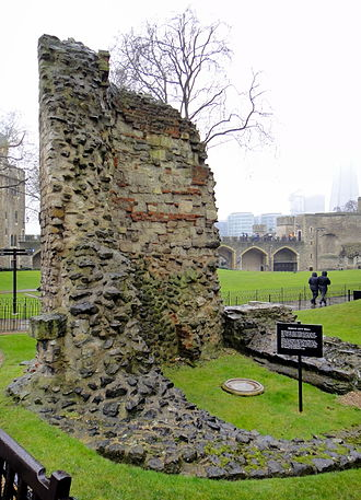 Wardrobe (government) - Remains of the 12th-century Wardrobe Tower at the Tower of London