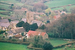 Askerswell - Image: Looking down at Askerswell from the A35 geograph.org.uk 470662