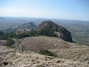 Manica Province - Looking down from Mount Zembe
