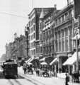 Looking south along the west side of Broadway from First Street, 1904-5.png