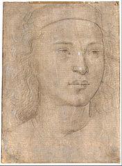 Kopf eines Jungen mit flachem Barrett