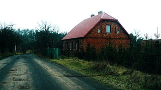 Łoskoń Stary Village in Greater Poland Voivodeship, Poland