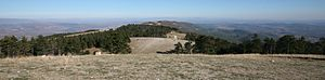 Luberon - View to east from the top of the Grand Luberon (Mourre Nègre).