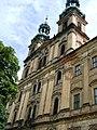 Lubiąż, klasztor, 1692-1710 widok z zewnątrz - na kościół NMP.JPG